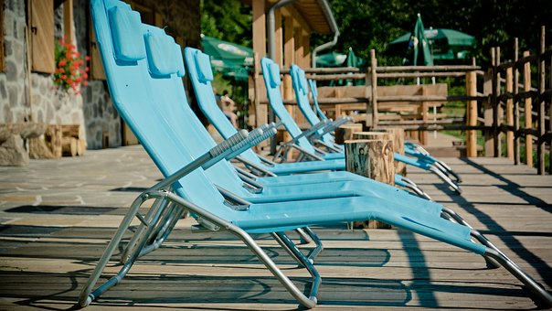 Concerns, Terrace, Sun Loungers, Sit, Relaxation, Out
