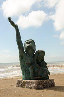 Usa, Texas, America, Statue, Hurricane, Galveston