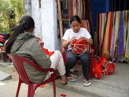 Lanterns, Handicraft, Handiwork, Handwork, Girl, Woman
