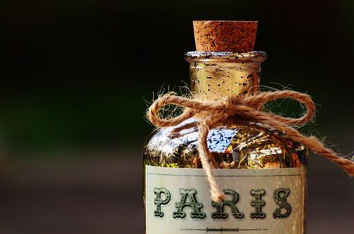 Bottle, Paris, Cork, Glass, Glass Bottle, Bottleneck