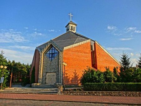 Good Shepherd Church, Biale Blota, Poland, Building