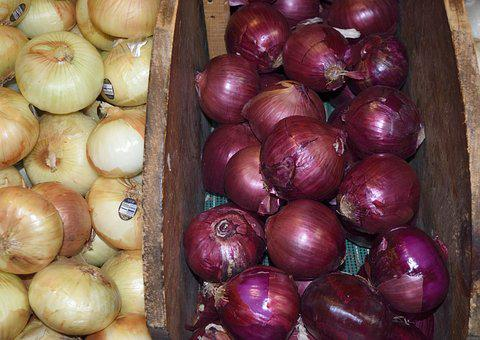 Onions, For Sale, Herb, Food, Market, Sale, Healthy