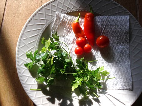 Herbs, Peppers, Garden, Parsley, Food, Healthy, Organic