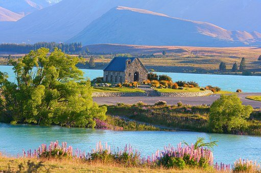 Lake Tekapo, New Zealand, Church, Nature
