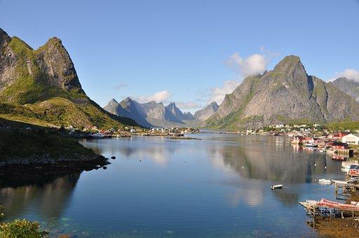 Lofoten, Norway, Scandinavia, Moskenes, Landscape