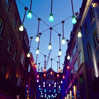 London, Carnaby Street, Lights, Street Lighting, Light