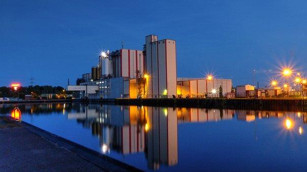 City harbor, Gelsenkirchen, Miller Mill, Hulling Mill