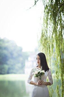 Girl, Hanoi, Asian, Asia, Bride, Model, Dress
