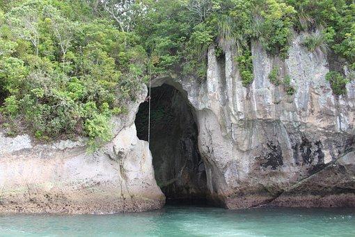 Rock, New Zealand, Sea, Nature, Landscape, Coast