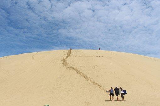 Sand Dune, Te Paki, New Zealand, Sky, Sand, Landscape