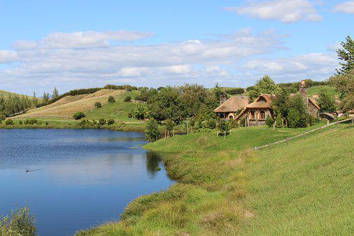 Hobbiton, New Zealand, Movie Set, Location, The Hobbit