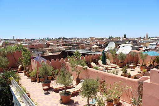 Marrakech, Riad, Old Town, Sun Terrace, Sun Lounger