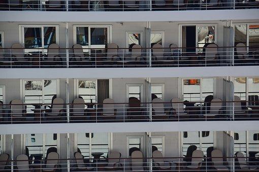 Cruise, Ship, Cabins, Quay, Quayside, Travel, Ocean