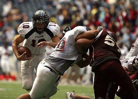 American Football, Quarterback, Running Back, Blocker