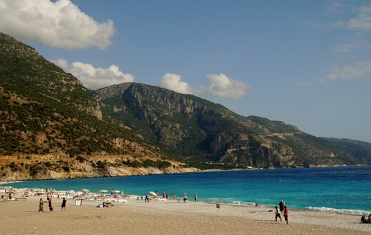 Turkey, Marmaris, Beach, Sandy Beach, Sea, Holidays