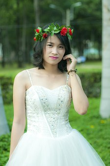 White Shirt, Vietnam, Girl, Young, Shirt, Flower