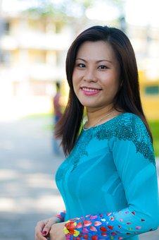 Long Coat, Green, Girl, Young, Fresh, Vietnam, Shirt