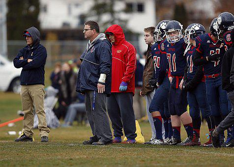 Football Team, Coach, Sidelines, Game, Competition