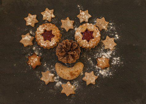 Heart, Star, Cookie, Cookies, Small Cakes, Bake
