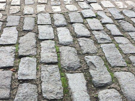 Paving Stones, Calzada, Soil, City, Street, Urban