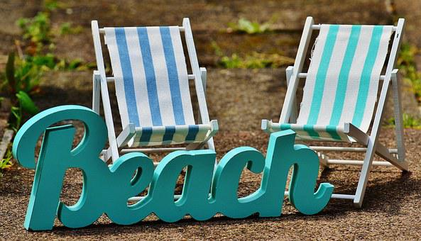 Sun Loungers, Beach, Font, Summer, Sun, Relaxation