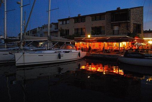 Boats, Evening, Sea, Reflection, Sunset, Boat, Summer