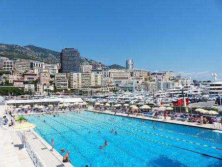 Monaco, Swimming Pool, Outdoor Pool, Pool, Water