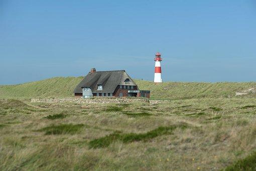 North Sea, Sylt, Lighthouse, Dunes, Island, Sand