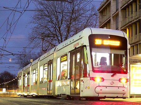 Bochum, Gelsenkirchen, Bogestra, Tram, Night