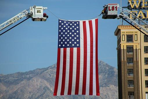 Flag, American, United States, America, Usa, National