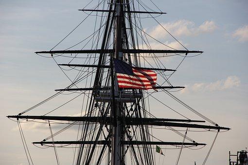 Uss Constitution, Boston Harbor, Pat, Boston