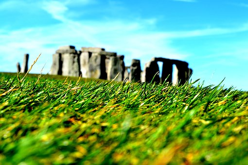 Stonehenge, England, Sculpture, The Stones, View, Grass