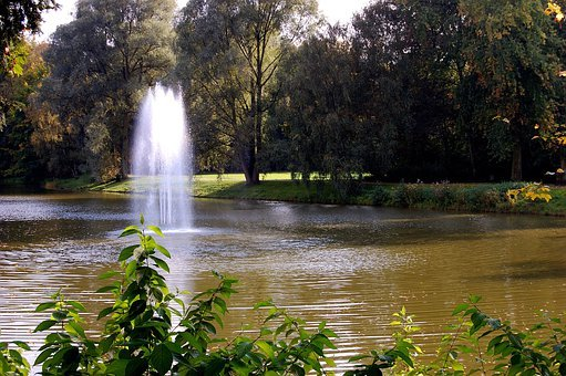 Lake, Fountain, Water, Water Feature, Wet, Inject