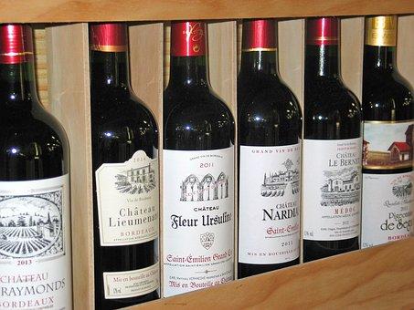 Wine, Wine Bottles, French Red Wine, Bottle, Red Wine
