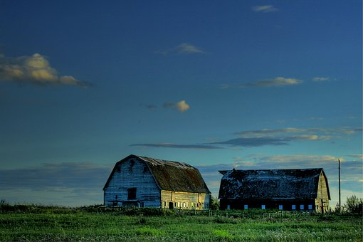 Alberta, Canada, Landscape, Scenic, Sky, Clouds, Farm