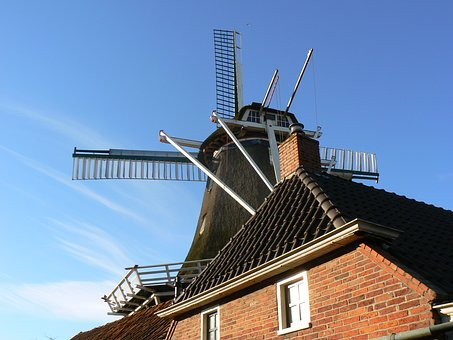 Dutch, Windmill, Sky, Mill, Holland, Blue