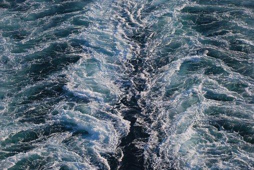 Cruise Ship, Mediterranean, Sea, Ship, Trails, Water