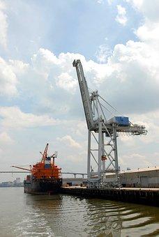 Ship Yard, Crane, Savannah, Georgia, Shipping, Yard