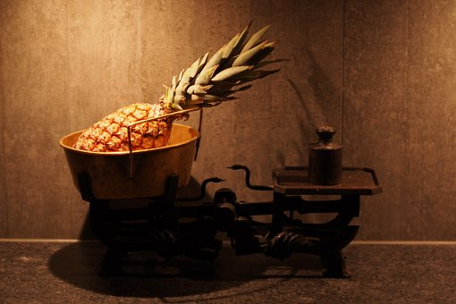 Pineapple, Fruit, Scales, Tropical, Vintage, Nutrition