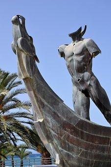 Boat, Statue, Almuñecar, Body