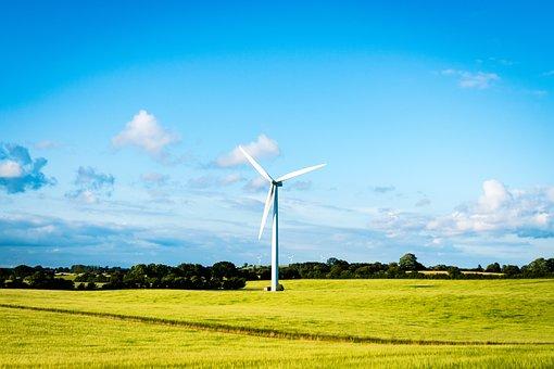 Windmill, Field, Sky, Landscape, Nature, Farm, Wind