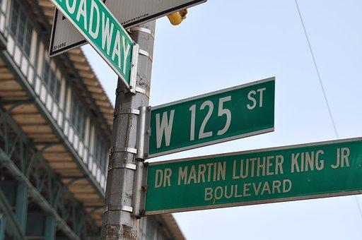 Martin Luther King, 125th Street, Harlem, New York