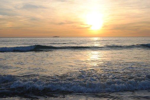 Sunset, Beach, Zahara Of The Tunas, Afternoon, Shore