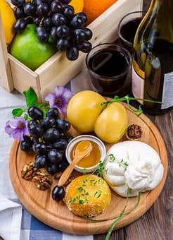 Cheese, Cheese Plate, Food, Snacks, Kitchen, Delicious