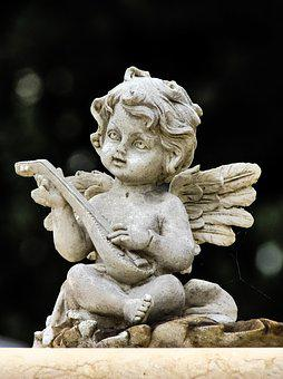 Angel, Playing, Music, Religion, Heaven, Christian