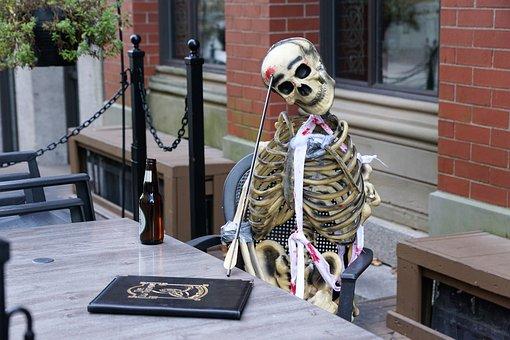 Halloween, Creepy, Home, Skeleton, Dead, Arrow, Head