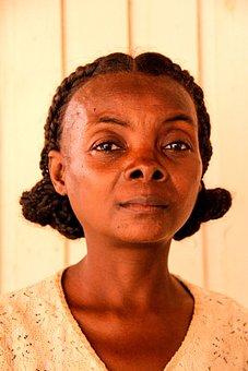 Woman, Madagascar, Africa, Smole, Black Skin, African