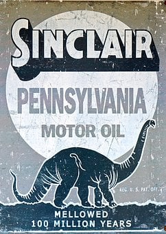 Sign, Old, Gas, Oil, Petroleum, Motor Oil, Sinclair