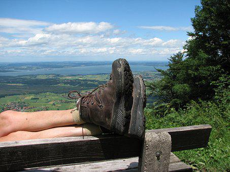 Chiemsee, Germany, View, Bank, Landscape, Hiking Boots