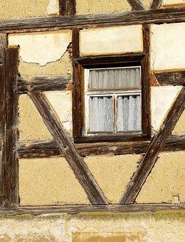Truss, Window, Old, Building, Home, Fachwerkhaus, Wood
